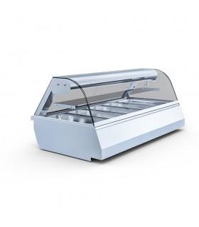 Vitrină frigorifică de banc, poliță suplimentară, 3 cuve GN1/1 Wiktoria 2 1.3m