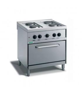 Mașină de gătit electrică 4 plite, cuptor electric convecție, linia 700, M74PFXE