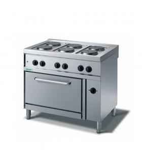 Mașină de gătit electrică 6 plite, cuptor electric convecție, linia 700, M76PFXE
