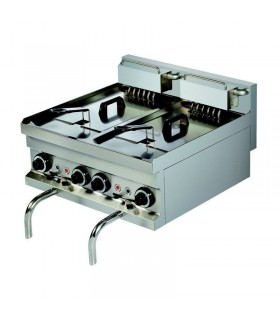Friteuză electrică profesională de banc, 2 cuve, 8 Litri, linia 600