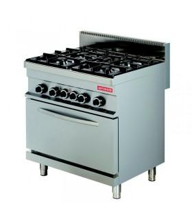 Mașină de gătit 4 focuri cuptor electric linia 700