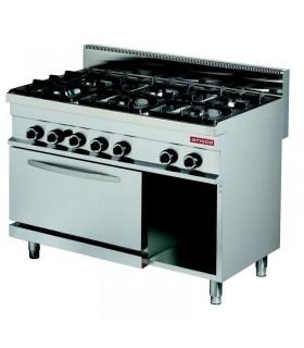 Mașină de gătit 6 focuri cuptor gaz linia 700