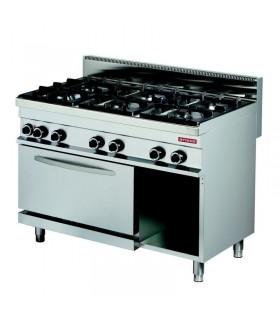 Mașină de gătit 6 focuri cuptor electric linia 700