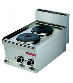 Mașină de gătit electrică de banc 2 plite rotunde linia 700
