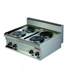 Mașină de gătit electrică de banc 4 plite rotunde linia 700