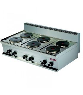 Mașină de gătit electrică de banc 6 plite rotunde linia 700