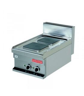 Mașină de gătit electrică de banc 2 plite pătrate linia 700