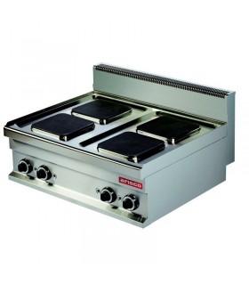 Mașină de gătit electrică de banc 4 plite pătrate linia 700