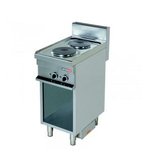 Mașină de gătit electrică 2 plite rotunde dulap deschis linia 700