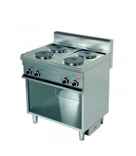 Mașină de gătit electrică 4 plite rotunde dulap deschis linia 700