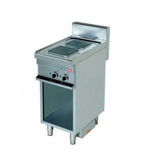Mașină de gătit electrică 2 plite pătrate dulap deschis linia 700