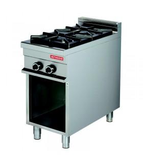 Mașină de gătit 2 focuri dulap deschis linia 900