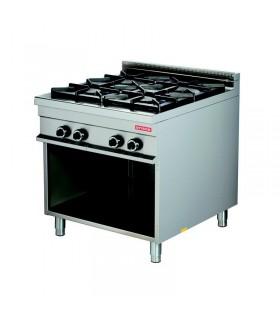 Mașină de gătit 4 focuri dulap deschis linia 900
