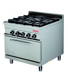 Mașină de gătit 4 focuri cuptor gaz linia 900