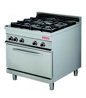 Mașină de gătit 4 focuri cuptor electric linia 900