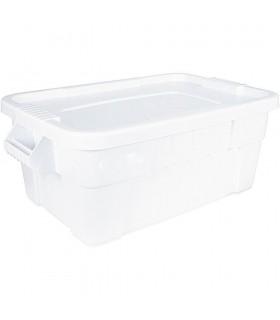 Cutie transport alimente cu capac albă, 53 litri, 710x440x270 mm, Stalgast Polonia