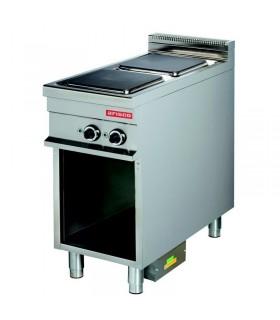Mașină de gătit electrică 2 plite pătrate dulap deschis linia 900