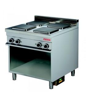 Mașină de gătit electrică 4 plite pătrate dulap deschis linia 900