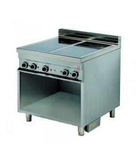 Mașină de gătit electrică 2 plite ceramice GN 2/1 dulap deschis linia 900 ER921C