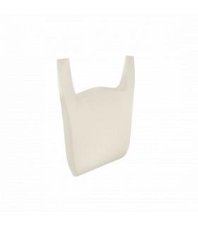 Pungi albe biodegradabile (270+2x70)x450mm (set 1000 buc.)